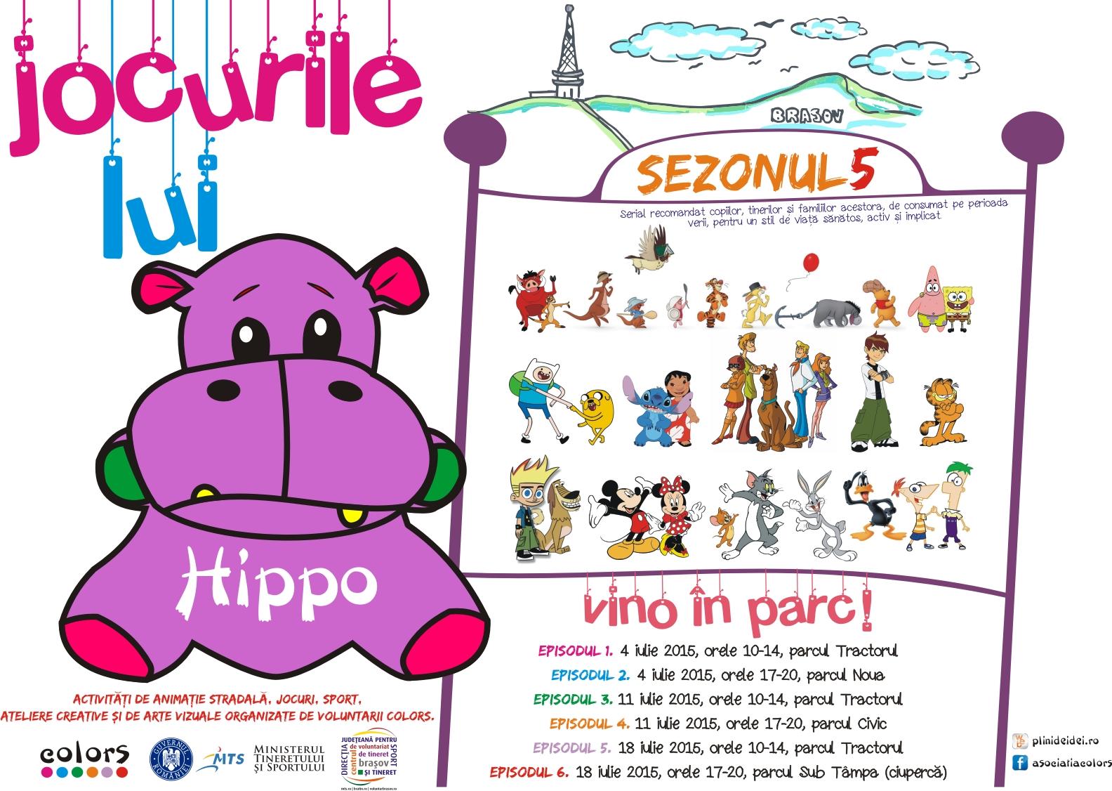 jocurile lui hippo 2015 afis